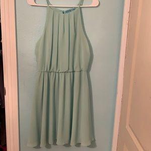 Teal Francesca's Halter top dress